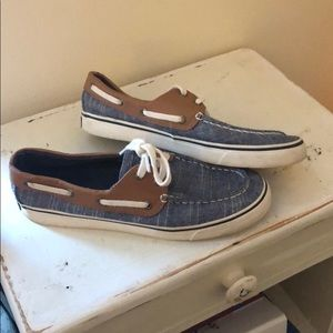 Sperry Canvas/Leather Boat shoes